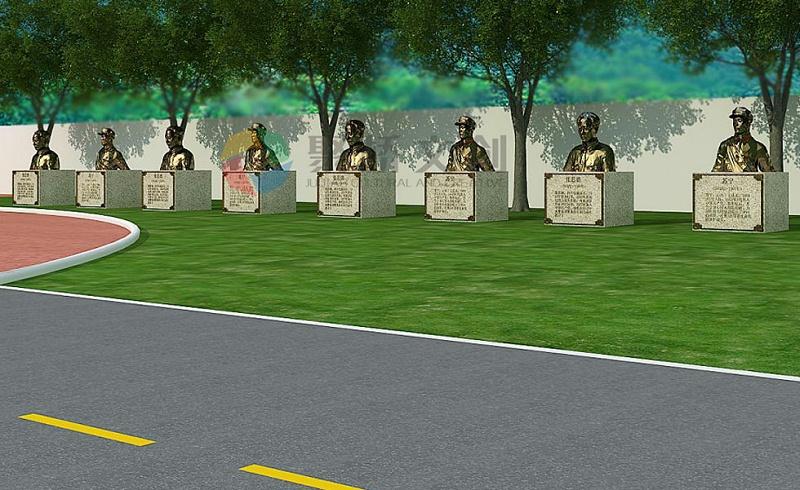 部队军史长廊英烈雕塑建设