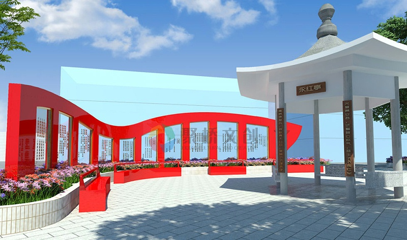 红色文化主题广场设计