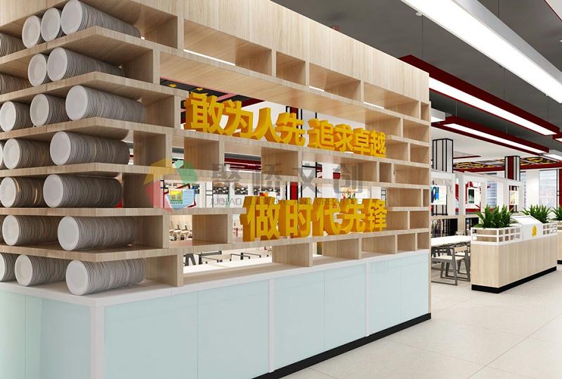 红色主题餐厅创意设计