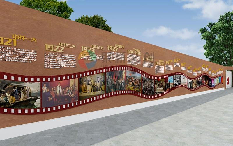 街区红色文化历程影片剪影设计